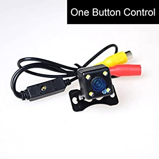 Cocar-12V-Universal-Kamera-4-LED-Licht-Nachtsicht-Rueckfahrkamera-Frontkamera-Seitenkamera-Multifunktionales-One-Button-Control-Switch-VorneHinternSeiten-PALNTSC-Distanzlinien-ONOff-Einparkhilfe