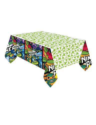 amscan 11012303 Tortugas Cubierta de Mesa de plástico con temática de Ninja Mutante Adolescente, 1 Pieza
