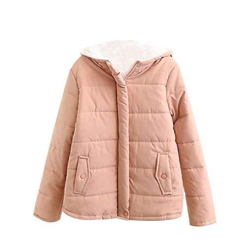 Strickjacke mit Kapuze für Frauen Plüschmantel Damen Futter Plus Samt Kurz Coat mit Reißverschluss Strickjacke
