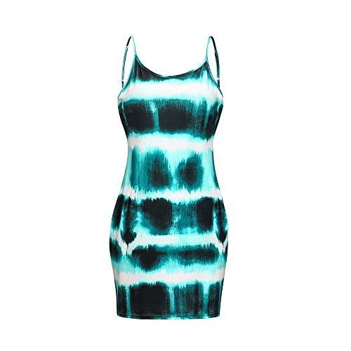 yanghuakeshangmaoyouxiangong 2020 Sommer Explosion Frauen Tie-Dye Rundhals HosenträGer Kleid