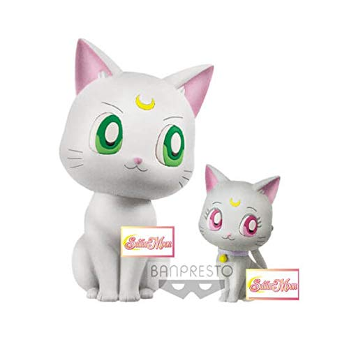 Banpresto Sailor Moon Eternal The Movie Fluffy Puffy Mini Figures Artemis & Diana 4 - 7 cm