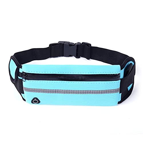 Mantimes Cinturón de correr con soporte para botella de agua, cintura deportiva con cremallera reflectante, riñonera impermeable para entrenamiento para mujeres y hombres