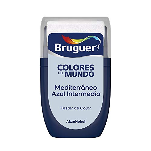Bruguer Tester Colori del mondo Pittura per pareti monostrato Mediterraneo Blu Intermedio