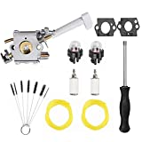 Podoy RY08420A Carburetor Bp42 Compatible with Ryobi Backpack 308054079 RY08420 Blower Fuel Line Adjustment Tool Kit 530069247 308054093 Carburetor Repower Kit