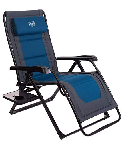 Timber Ridge Zero Gravity Chair Oversized Recliner Folding Patio Lounge Chair 350lbs Capacity Adjustable Lawn Chair with Headrest for Outdoor, Camping, Patio, Lawn