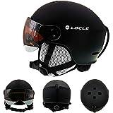 IAMZHL Skihelm UltraleichterHerren Damen Skihelm Outdoor Sport Snowboard/Skateboard Helm-Black Helmet-L (58-61cm)