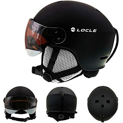 IAMZHL Skihelm UltraleichterHerren Damen Skihelm Outdoor Sport Snowboard/Skateboard Helm-Black Helmet-2-S (53-55cm)