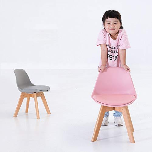 YIZ Modern Meubilair Kinderstoel Effen Houten Kruk Schrijven Leren voor Thuis Kleuterschool Meerdere kleuren roze