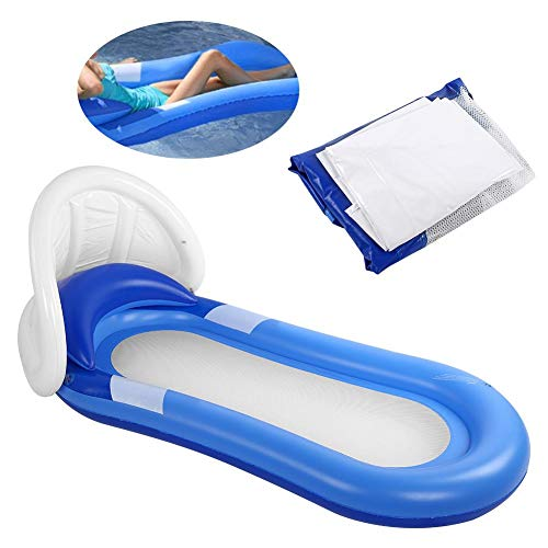Redxiao Cama Flotante Inflable, Tumbona Relajante para Piscina, Tumbona, PVC Universal extraíble para Verano para Piscina