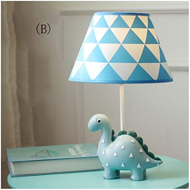 CJW Drachentischlampe des langen Halses der Karikatur - Nachttischlampe des Jungenmdchenschlafzimmerkinddreiecks (Farbe   B-34cmx19cm)