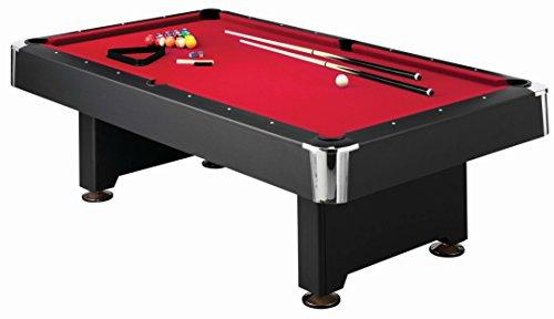 Mizerak Donovan II 8  Billiard Table with 2 Cues, Set of Billiard Balls, Triangle Brush and 2 Chalk