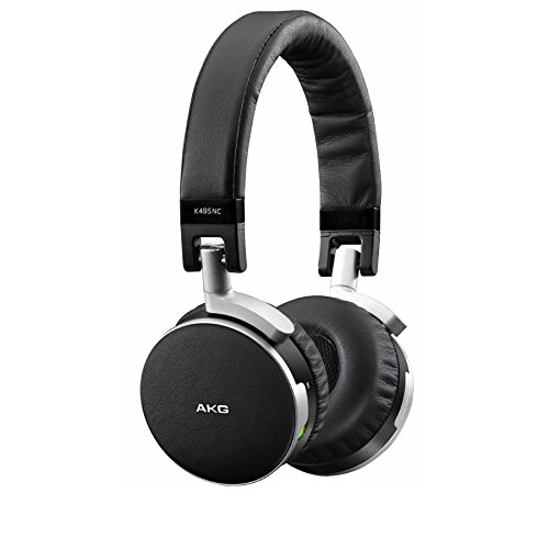 AKG K495, cuffie con riduzione attiva rumore, qualità premium, colore nero