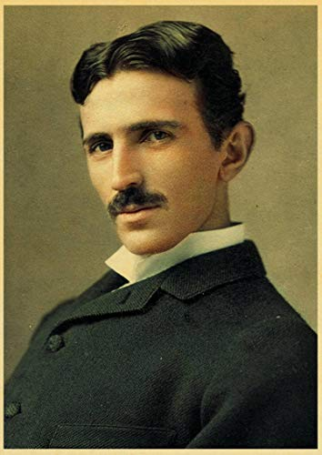 lubenwei Famous Scientists Nikola Tesla Retro poster Home Furnishing decoration Game Poster Drawing Painting Wall stickers 50x70cm No frame AT-215