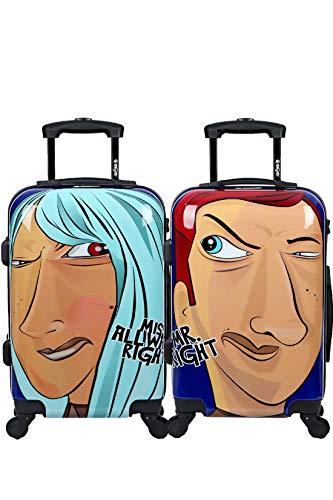 Maleta de cabina Equipaje de mano 55x35x20 Maleta juvenil trolley de viaje Ryanair Maleta de viaje Rígida MISTER y MISS...
