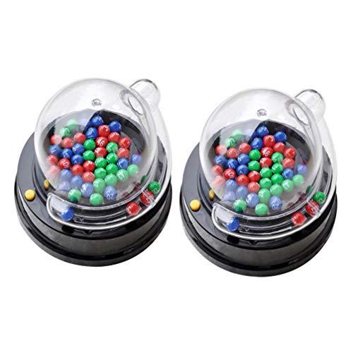 STOBOK 2 Juegos de Bingo Lotto Máquina Eléctrica de La Loteria Sacudida...