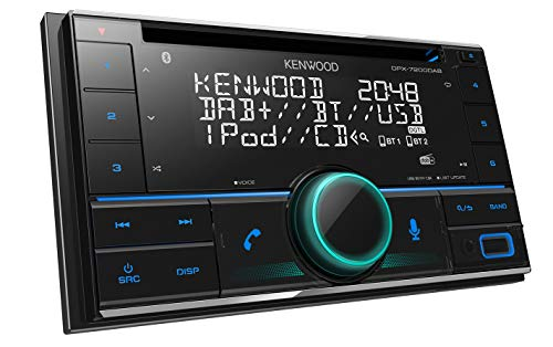 Kenwood DPX-7200DAB 2-DIN CD-Autoradio mit DAB+ und Bluetooth Freisprecheinrichtung (Alexa Built-in, USB, AUX-In, Hochleistungstuner, Spotify Control, Soundprozessor, 4x50 W, VAR. Tastenbeleuchtung)