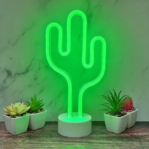 The Glowhouse Cactus luz de neón luz de la Noche con el Soporte decoración de la habitación, con Pilas del Cactus lámparas de luz hasta señales de neón