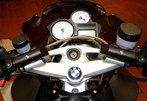 Kit de conversión de manillar y elevador de manillar con desplazamiento de 85 mm más cercano ABE para BMW K1200R/Sport.