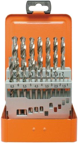 Projahn BASIC Spiralbohrer-Kassete (19-teilig, aus dem Vollen geschliffen, lange Lebensdauer, je 1 Ø 1 – 10 mm um 0,5 steigend)