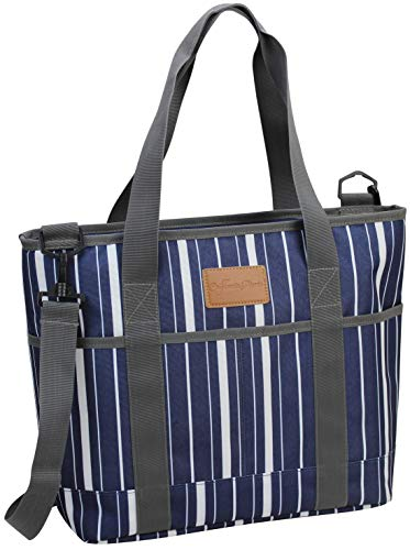 Insulated Tote Bag | Picnic Insulated Lunch Bag Carrier | Excellent Insulated Cooler Zipper Tote Bag for Women/Men | Travel and Snack Bag | Yoga Mat Bags | Corporate Gifts | Thermal Beach Market Tote