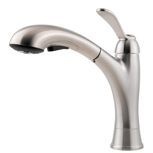 Pfister F5347CMS Clairmont 1-Handle Pull-Out Kitchen Faucet, Stainless Steel, 2.2 gpm