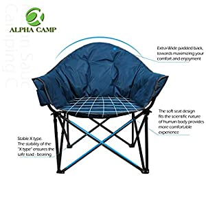 CAMPING WORLD Folding Oversized Moon Chair 160 kg
