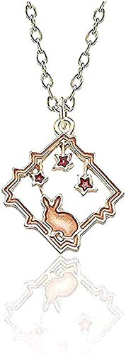 YOUZYHG co.,ltd DIY HalsketteStarry Sky Anhänger Halskette Kaninchen Anhänger Halskette Star Bunny Anhänger Halskette Anhänger Halsketten