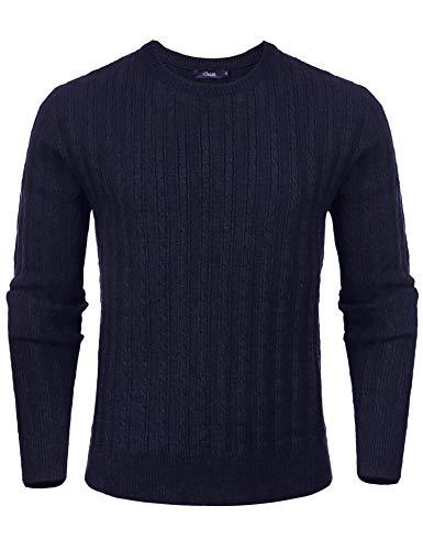 iClosam JerséIs Hombre De Manga Larga CláSico Cuello Camisetas AlgodóN Camisas T-Shirt OtoñO Invierno