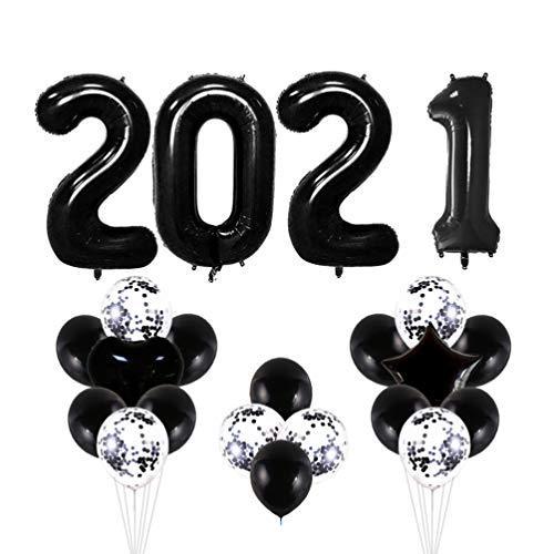 VALICLUD 2021 Globos de Confeti de Papel de Graduación Banner Fiesta de Fin de Año Festival de Compromiso de Cumpleaños Suministros para Banquetes de Boda