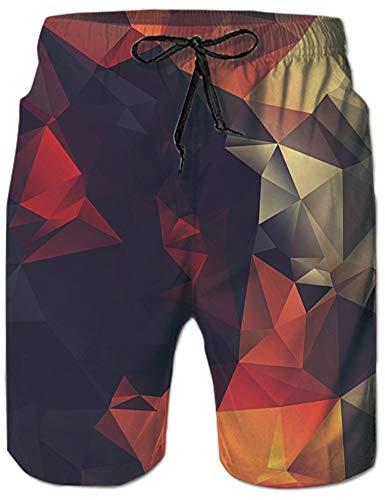 Loveternal Badehose Herren Surfing Badeshorts 3D Print Geometrie Grafik Sommer Strandhose Swim Trunks S