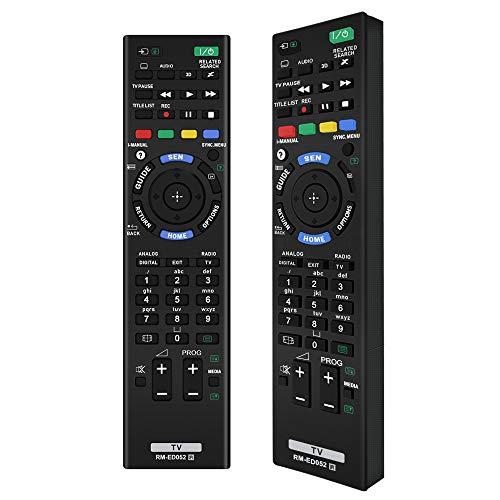 Alkia RM-ED052 Mit Fernbedienung kompatibler Ersatz für Sony Smart-TV/HDTV / 3D / LCD/LED,Anwendbar RM-ED053 RM-ED060, KDL-40W905A KDL-46W905A KDL-55W905A KDL-65W855A