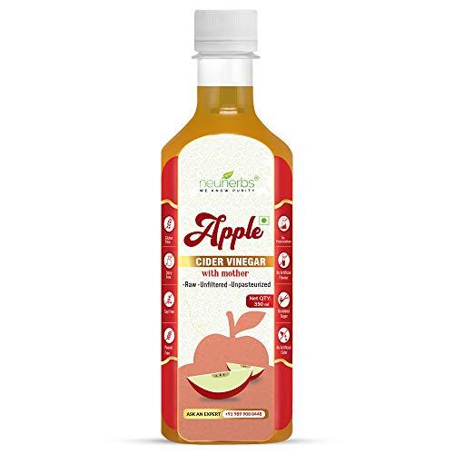 Neuherbs Apple Cider Vinegar with Mother Vinegar, Raw, Unfiltered and Undiluted - 350 ml