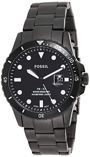 Fossil Herren Analog Quarz Uhr mit Silikon Armband FS5659