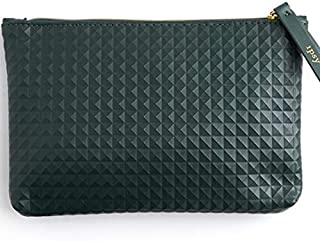 Ipsy Dark Green Studded Cosmetic Bag - Makeup Bag Only