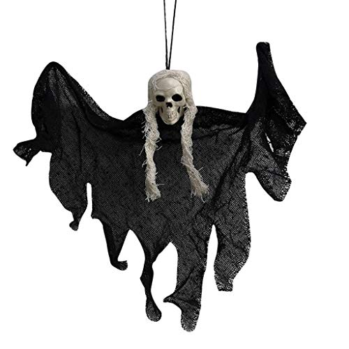 URSING Halloween Hanging Ghost Halloween Decorations, Hanging Skeleton Ghost Scary Props Ghoul Haunted House Prop Deco for Home, Yard, Party, Bar, Tree, Wall, Veranda, Porch, Eaves, Haunted House