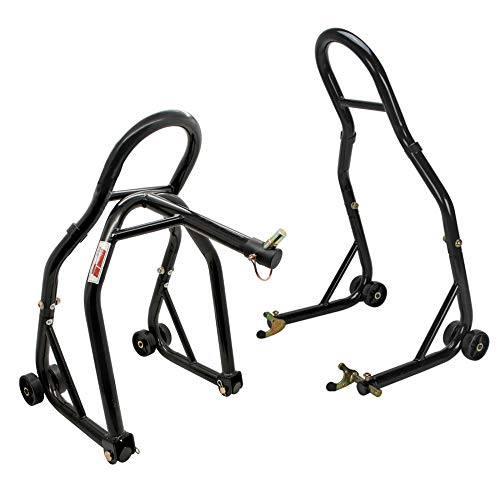 Extreme Max 5600.3223 Sport Bike Front & Rear Spool-Style Lift Stand with Triple Tree Attachment