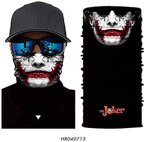 Multifunctionele stofdichte Masker Bandana 3D Magic Neck Gaiter Gezicht Fietsen Bike Ski Camping Bandana Halloween hoofdband Sjaal Mannen Vrouwen,D