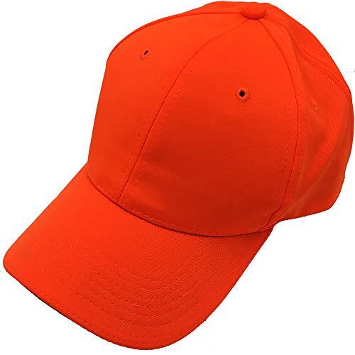 Waidmeister Original Jagdkappe in Orange mit 3M(TM) Scotchlite(TM) Reflexionsbeschichtung - Premium Outdoor Hunter Cap für Treibjagd Drückjagd - One Size & Quick Dry Kappe