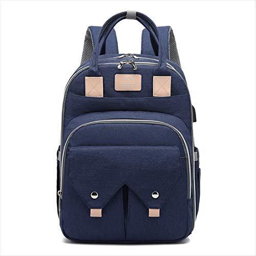 BigForest sac ? main Nappy Changing Bag Sacs ? Dos ? Langer pour B?b? Sac Mummy Backpack Baby Diaper Bag Maternity Tote Handbag blue