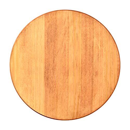 NATUREDESIGN 円形 パイン集成材 300x18mm (チェスナット塗装)