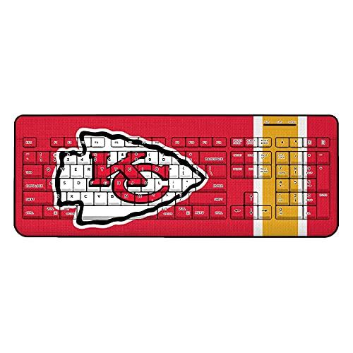 Strategic Printing Kansas City Chiefs Stripe Wireless Keyboard -  3523175-505