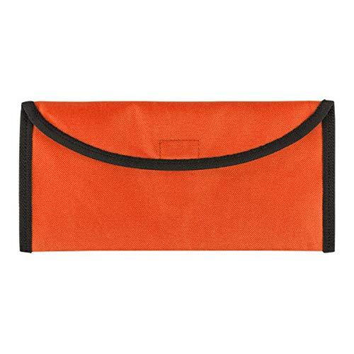 BigBuy Travel 149188, Portadocumentos de Viaje Poliester Unisex-Adult, Naranja, Talla Única
