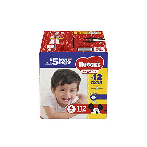 Price comparison product image HUGGIES Snug & Dry Diapers,  Size 4,  112 Count,  GIGA JR PACK (Packaging May Vary)