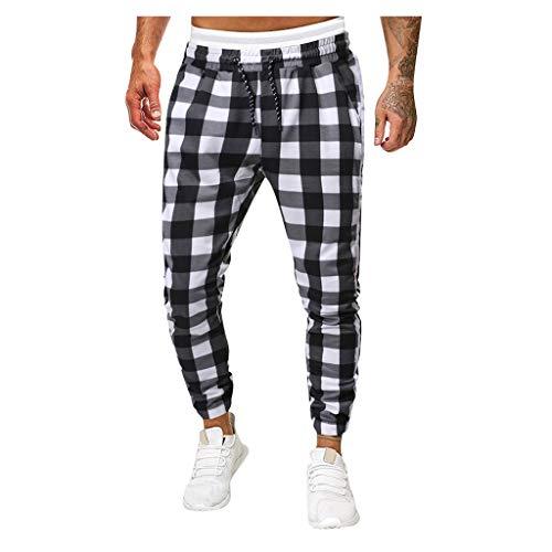 Heren Slim joggingbroek met ritszakken voor sport fitness vintage etnic stijl straight cilinder broek business broek 4XL zwart