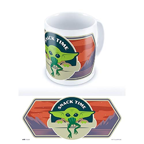 Taza Star Wars - Taza Baby Yoda - Taza desayuno / Taza The Mandalorian, Producto con licencia oficial - Taza cerámica