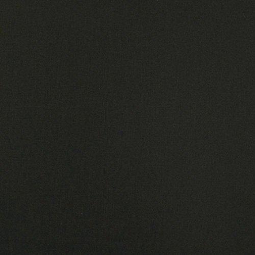 {手芸のいとや 生地 広幅 カラー綿シーチング 無地 ブラック 生地幅-約108cm×2.5mカット 綿100%}