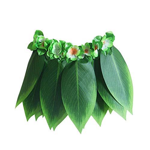 Coomir Kunstmatige bladerrok voor feestjes op het strand in de zomer Hawaii Grass Hula Skirt voor kinderen en volwassenen