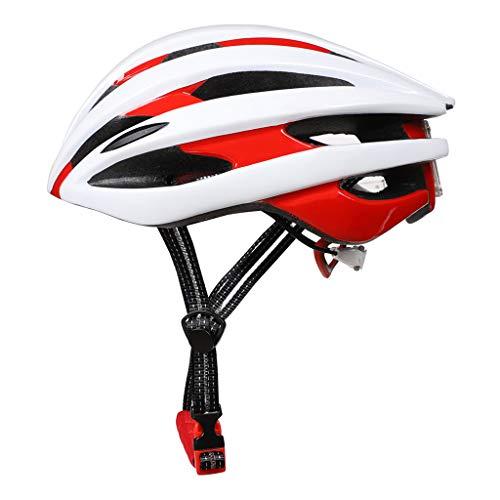 7haofang LED Light Bicycle Helmet Unisex LED Light MTB Bike Helmet Adventure Mountain Riding Safety Cap