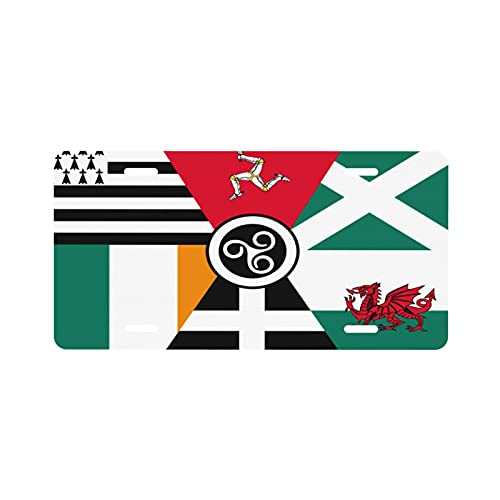 Celtic Nations Flag License Plate Aluminum Novelty License Plate Decorative Front Plate 6 X 12 Inch