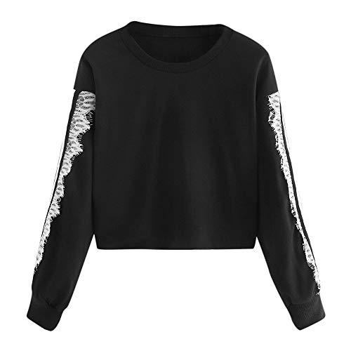 Elegante Camicetta Blouse Tops,Felpe Tumblr Ragazza,YanHoo T-Shirt da Donna Camicetta da Donna a Manica Lunga con Stampa a Girocollo